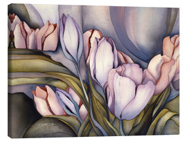 Canvas print  River of tulips - Jody Bergsma