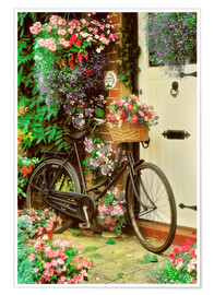 Premium poster  Bicycle & Flowers - Simon Kayne