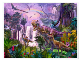 Premium poster  Dinos in the Jungle - Jan Patrik Krasny
