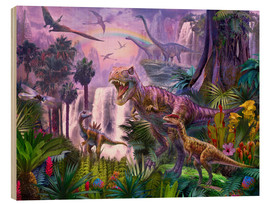 Wood print  Dinos in the Jungle - Jan Patrik Krasny