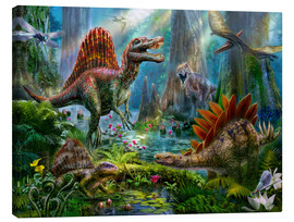 Canvas print  Dinosaur reunion - Jan Patrik Krasny
