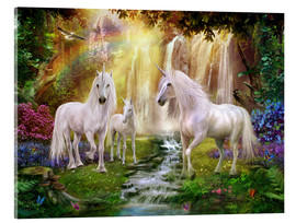Acrylic print  Waterfall Glade Unicorns - Jan Patrik Krasny