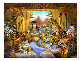 Premium poster  Egyptian Queen of the Leopards - Jan Patrik Krasny