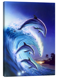 Canvas print  Riding the wave - Robin Koni