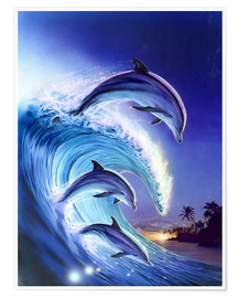 Premium poster  Riding the wave - Robin Koni