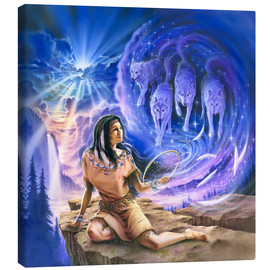 Canvas print  Spirit of the wolf dream catcher - Robin Koni