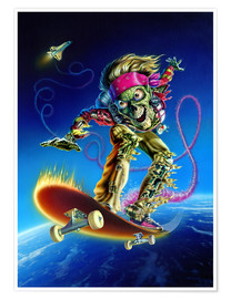 Premium poster  Skateboarder - Extreme Zombies