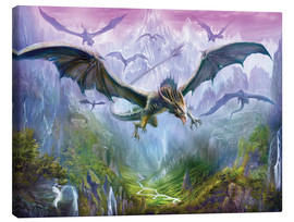 Canvas print  The Valley Of Dragons - Dragon Chronicles