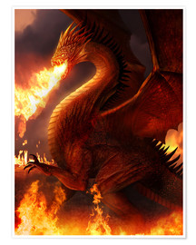 Premium poster  Lord of the Dragons - Phil Straub