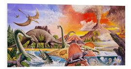 Foam board print  Volcanic eruption in prehistoric times - Paul Simmons