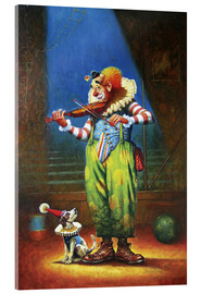 Acrylic glass  Clown and dog - Petar Meseldzija