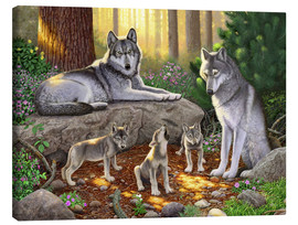 Canvas print  A family of wolves - Chris Hiett