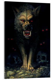 Acrylic print  Demon wolf - Chris Hiett