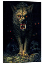 Canvas print  Demon wolf - Chris Hiett