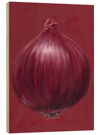 Wood print  Red onion - Brian James