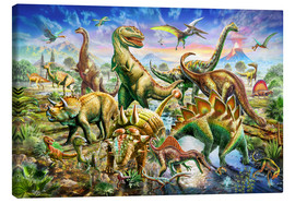 Canvas print  Assembly of dinosaurs - Adrian Chesterman