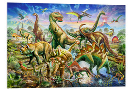 Foam board print  Assembly of dinosaurs - Adrian Chesterman