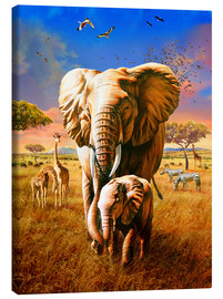 Canvas print  Elephants - Adrian Chesterman