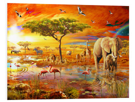 Foam board print  Savanna Pool - Adrian Chesterman