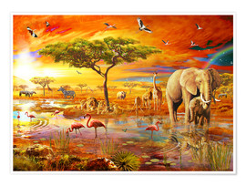 Premium poster  Savanna Pool - Adrian Chesterman