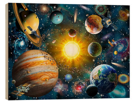 Wood print  Our Solar System - Adrian Chesterman