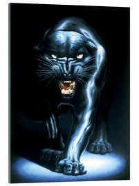Acrylic glass  Black Panther - Adrian Rigby