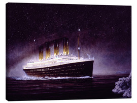 Canvas  RMS titanic night - Francis Mastrangelo