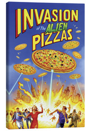 Canvas print  Invasion of the alien pizzas - Gareth Williams