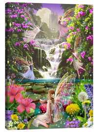 Canvas print  Waterfall fairies - Garry Walton