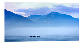 Acrylic print  Three Killer whales in mountain landscape at Vancouver Island - Jürgen Ritterbach