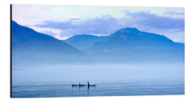 Aluminium print  Three Killer whales in mountain landscape at Vancouver Island - Jürgen Ritterbach