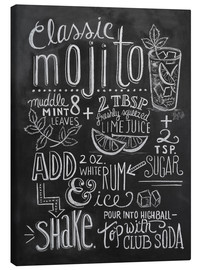 Canvas print  Mojito recipe - Lily & Val