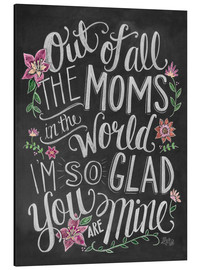 Aluminium print  The best mom of the world - Lily & Val