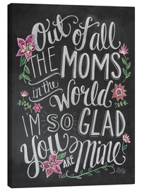 Canvas print  The best mom of the world - Lily & Val