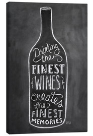 Canvas print  Finest Wines - Lily & Val