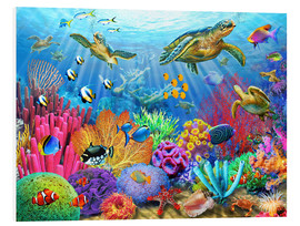 Foam board print  Turtle coral reef - Adrian Chesterman
