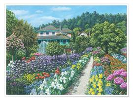 Premium poster Monets Garden, Giverny
