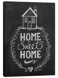 Canvas print  Home Sweet Home - Lily & Val