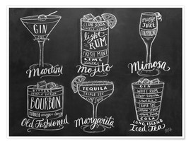 Premium poster  Cocktail Recipes - Lily & Val