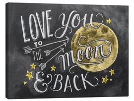 Canvas print  Love you to the moon - Lily & Val