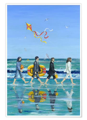 Premium poster Abbey Road Beach