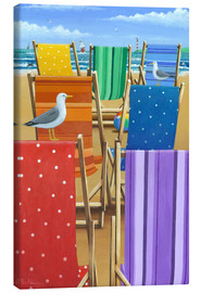 Canvas print  Rainbow Deckchairs - Peter Adderley