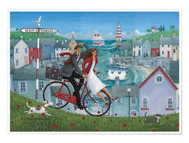 Premium poster  Bicycle seascape - Peter Adderley