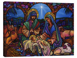 Canvas print  Stained Glass Nativity - Lewis T. Johnson