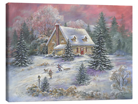 Canvas  Christmas at Dusk - Mimi Jobe
