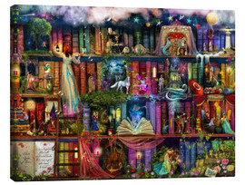Canvas print  Treasure hunt book shelf - Aimee Stewart