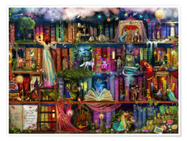 Premium poster  Treasure hunt book shelf - Aimee Stewart