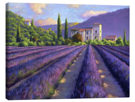Canvas print  Lavender field with Abbey - Jay Hurst