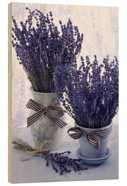 Wood print  Lovely Lavender - Simon Kayne