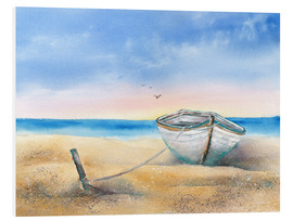 Foam board print  Rowing boat - Jitka Krause
